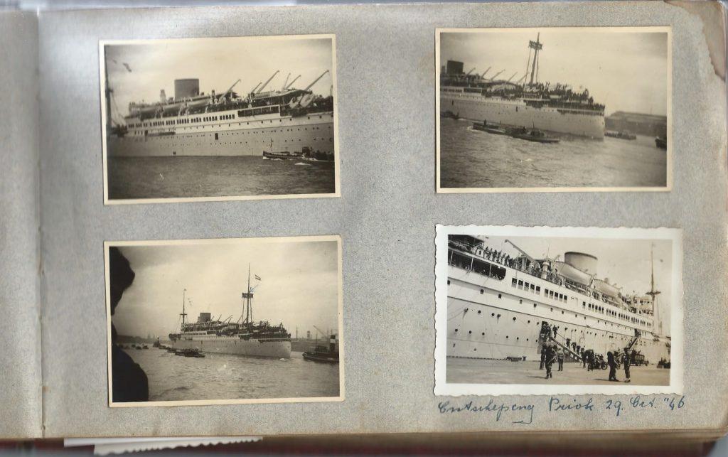 <b>Ontscheping Troepenschip de Tegelberg, 23 oct 1946 te Priok</b>