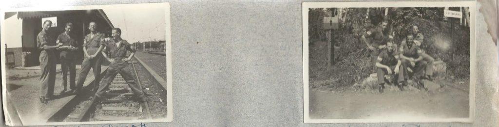 <b>Klaas Bruinsma met zijn maten met drie strepen</b>