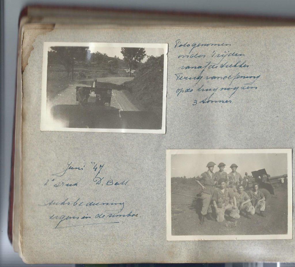 <b>Oefening stuksbediening voor de eerste politionele actie in juli 1947</b>
