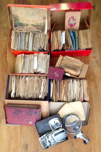 <b>Archief met de brieven uit Nederlands-Indië</b>