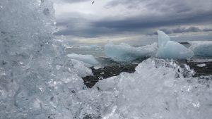 ijsschots op zand