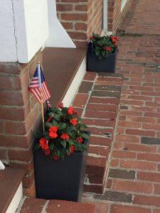 Vlag in bloempot